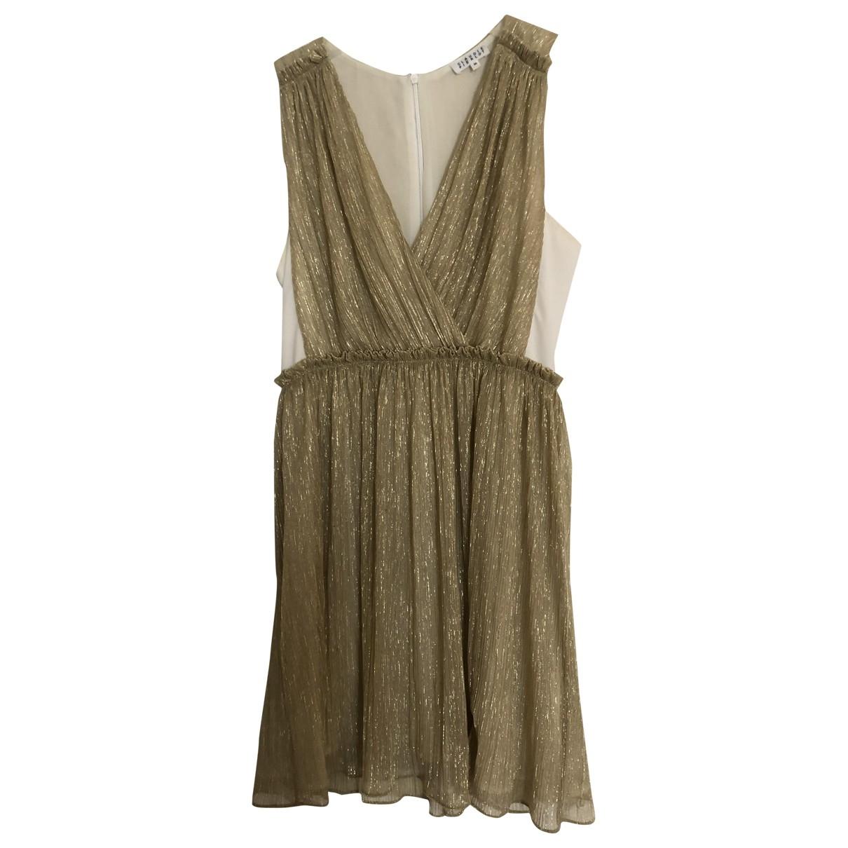 Claudie Pierlot \N Gold dress for Women 36 FR