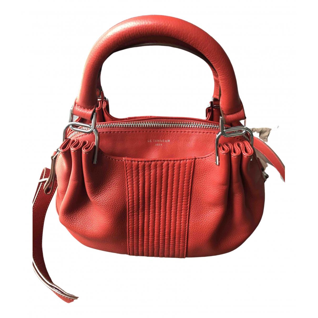 Le Tanneur N Red Leather handbag for Women N
