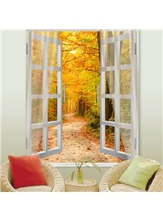 3D Blackout Decorative Roller Shades with Fantastic Autumn View