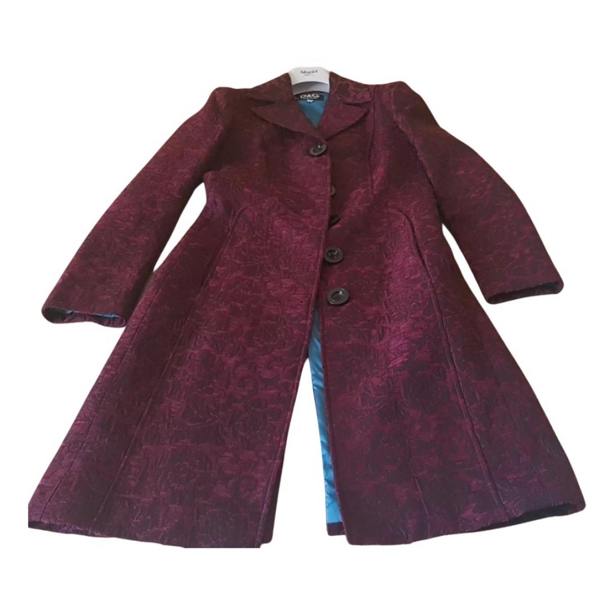 D&g N Burgundy coat for Women 40 IT
