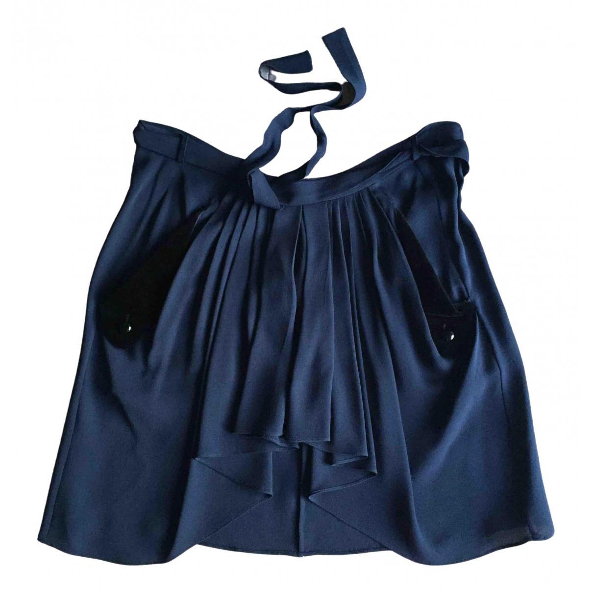 Balenciaga - Jupe   pour femme en soie - bleu