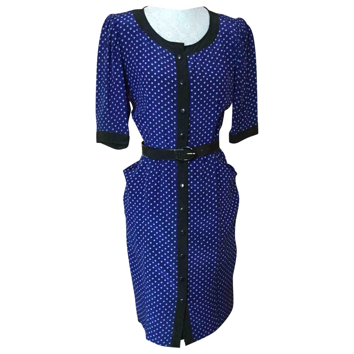 Ungaro Parallele \N Kleid in  Blau Seide