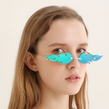 Flame Rimless Sunglasses