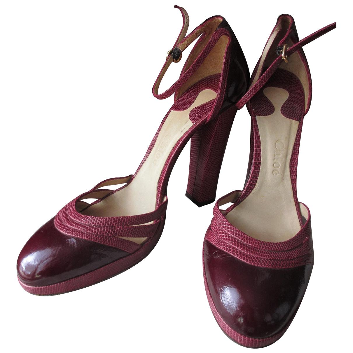 Chloé \N Burgundy Patent leather Heels for Women 40 EU