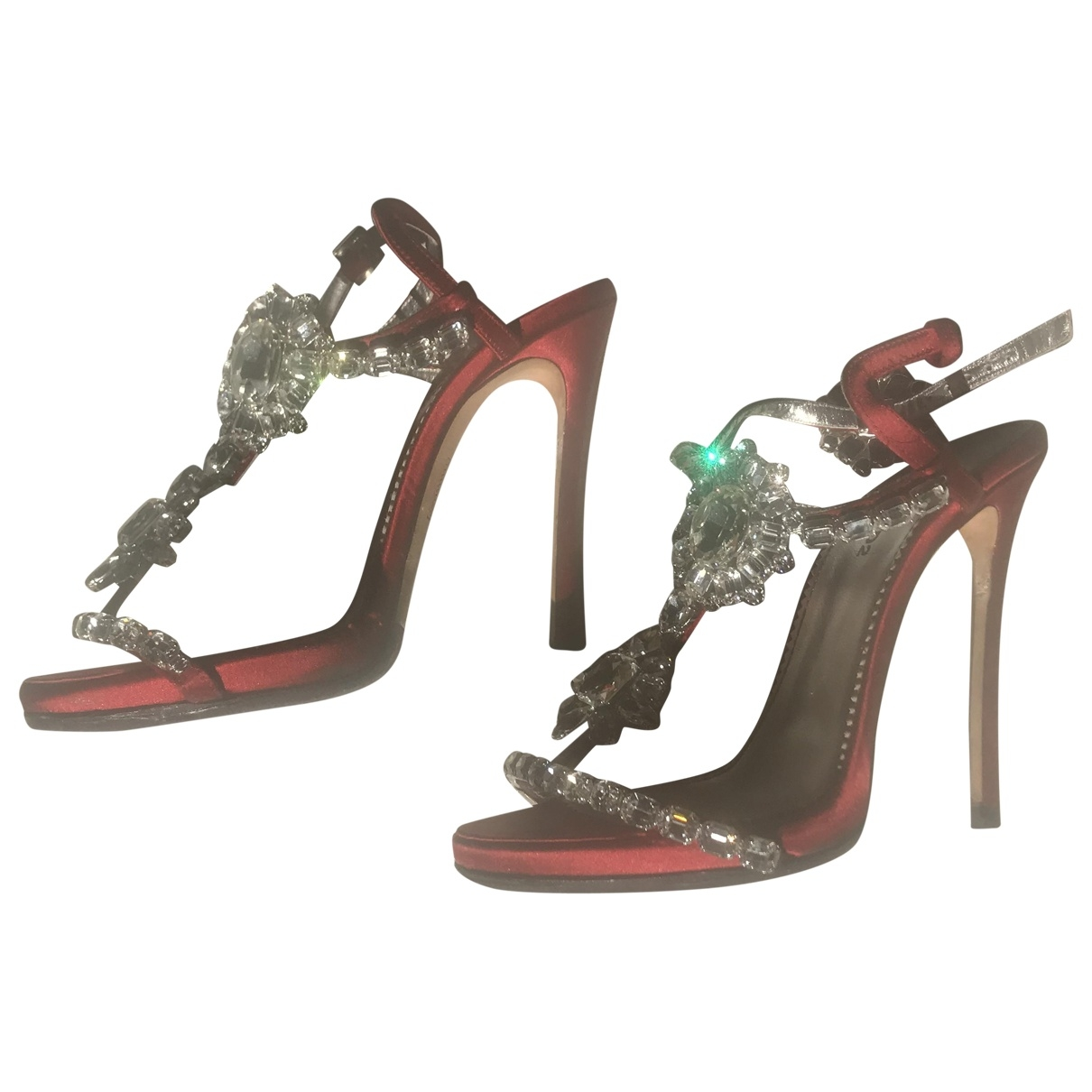 Dsquared2 \N Burgundy Leather Sandals for Women 37 EU