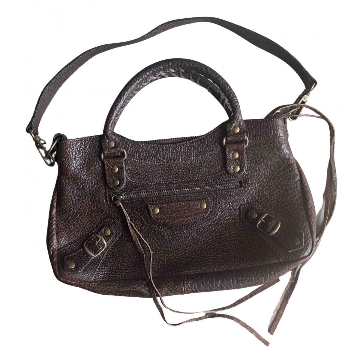 Balenciaga City Brown Leather handbag for Women \N