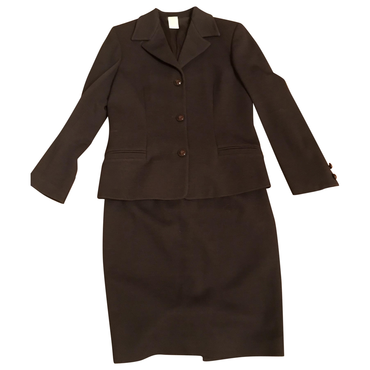 Versace \N Brown Wool jacket for Women 42 IT