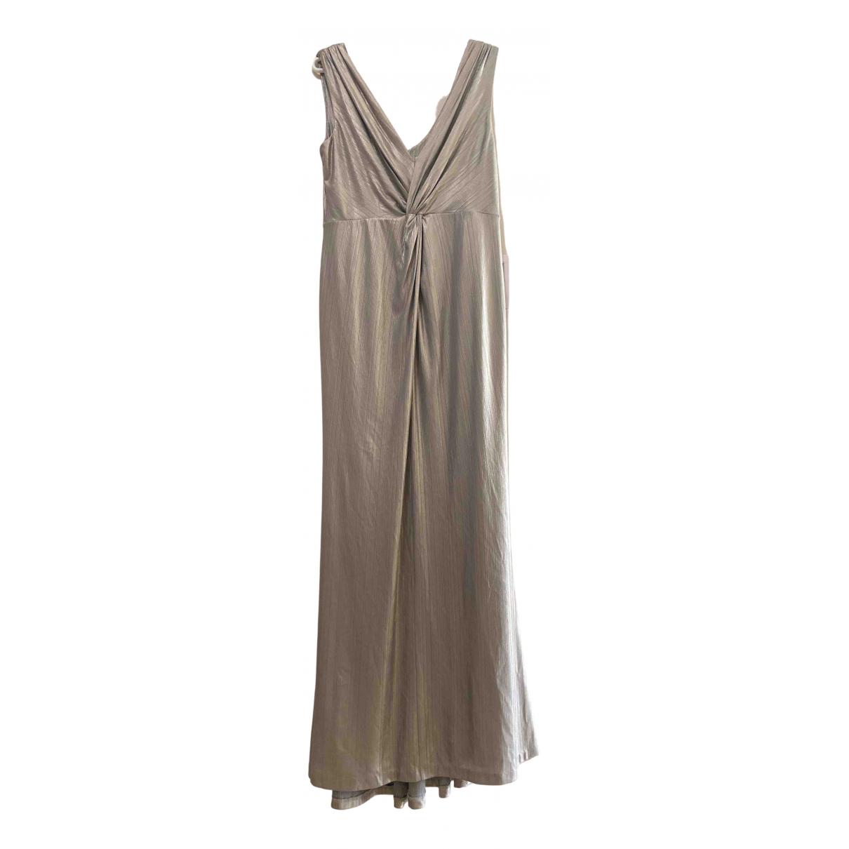 Calvin Klein \N Kleid in  Silber Polyester