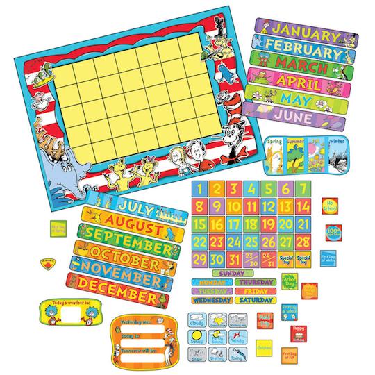 Dr. Seuss™ Calendar Bulletin Board Set By Ek | Michaels®