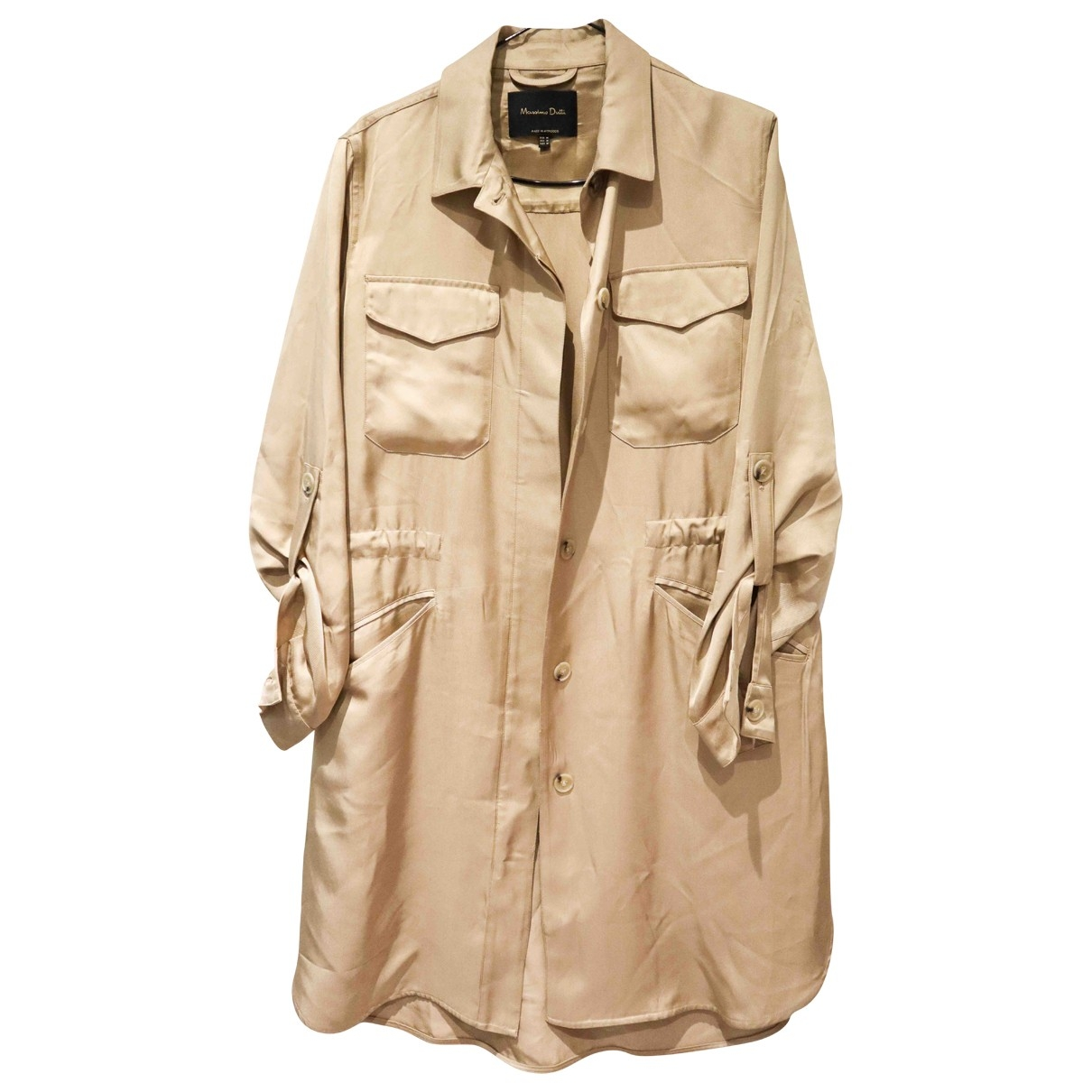 Massimo Dutti \N Trench in  Gold Viskose