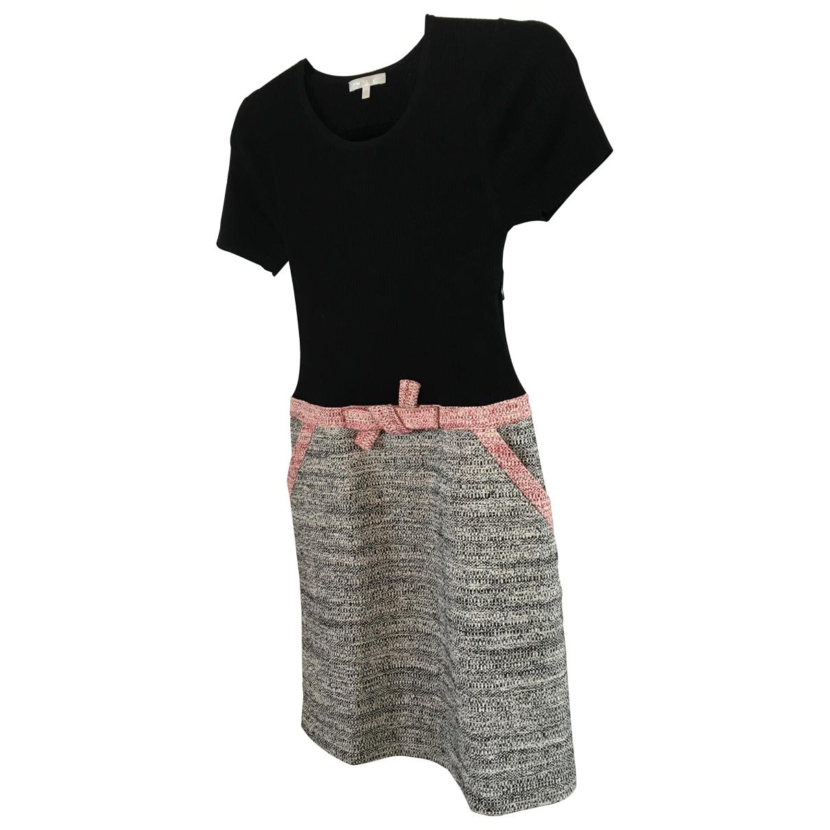 Paule Ka \N Black Tweed dress for Women 40 IT