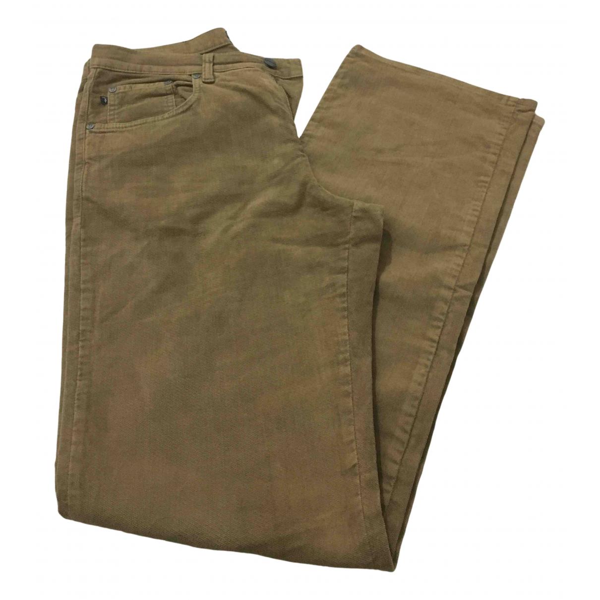Trussardi Jeans N Camel Cotton Trousers for Men 32 UK - US