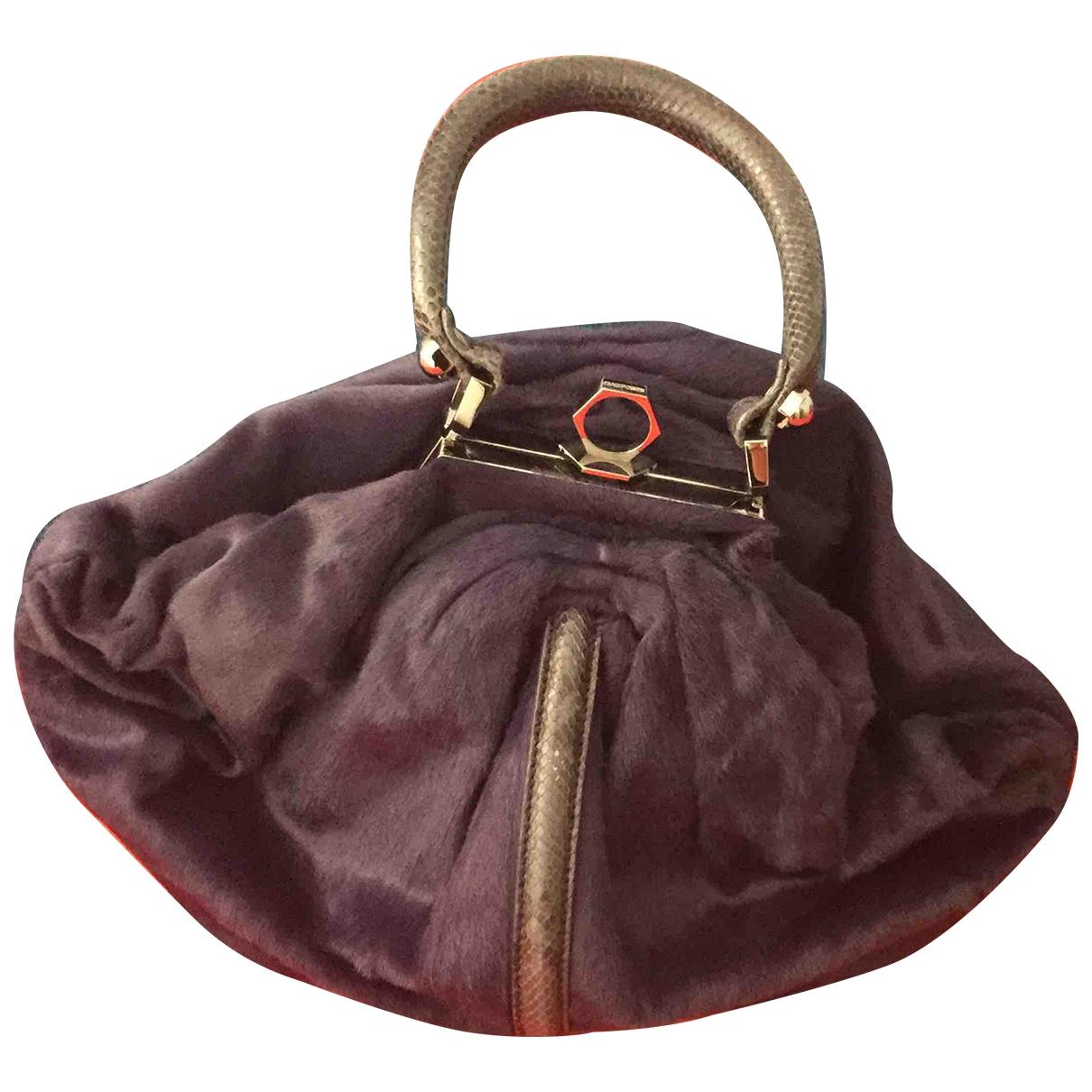 Zac Posen \N Handtasche in  Lila Fell