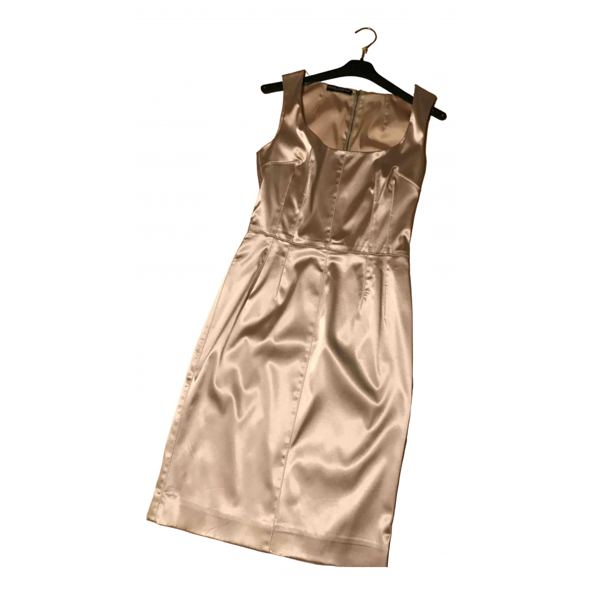 Dolce & Gabbana \N Beige Silk skirt for Women 42 FR