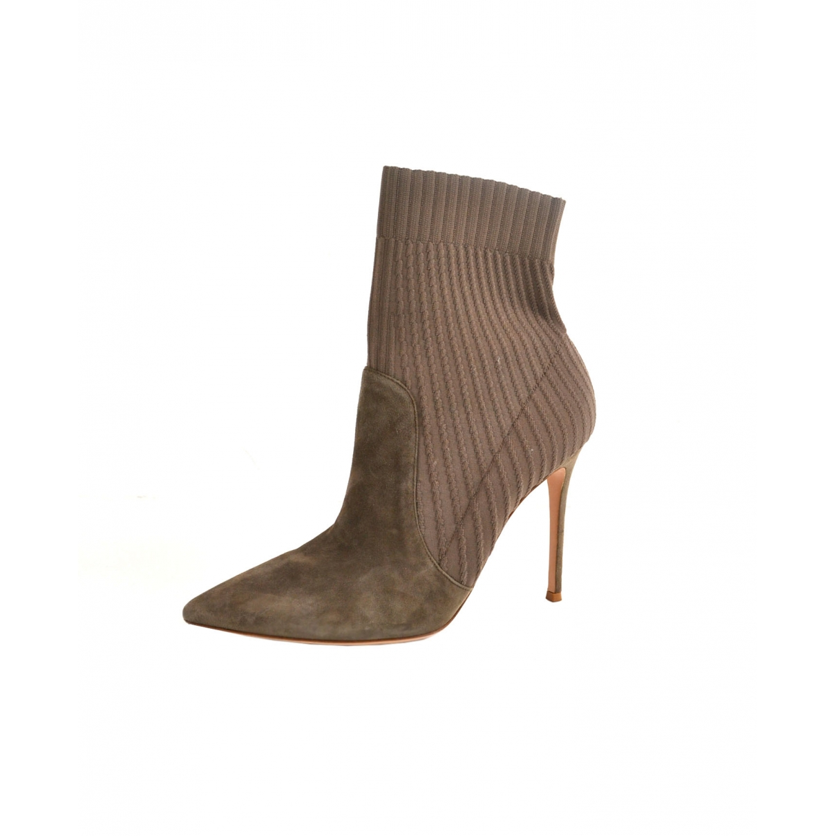 Gianvito Rossi \N Grey Suede Ankle boots for Women 42 EU