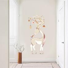 Pegatina de pared con estampado de ciervo