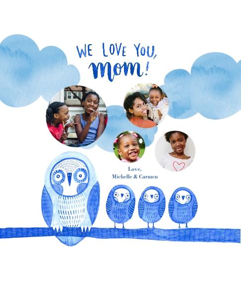 Family + Friends Canvas Print, 8x10, Home Décor -Owl Little Family