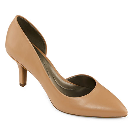 east 5th Womens Daven Closed Toe Stiletto Heel Pumps, 8 1/2 Wide, Beige