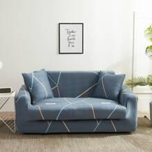 Sofabezug mit geometrischem Muster ohne Kissen