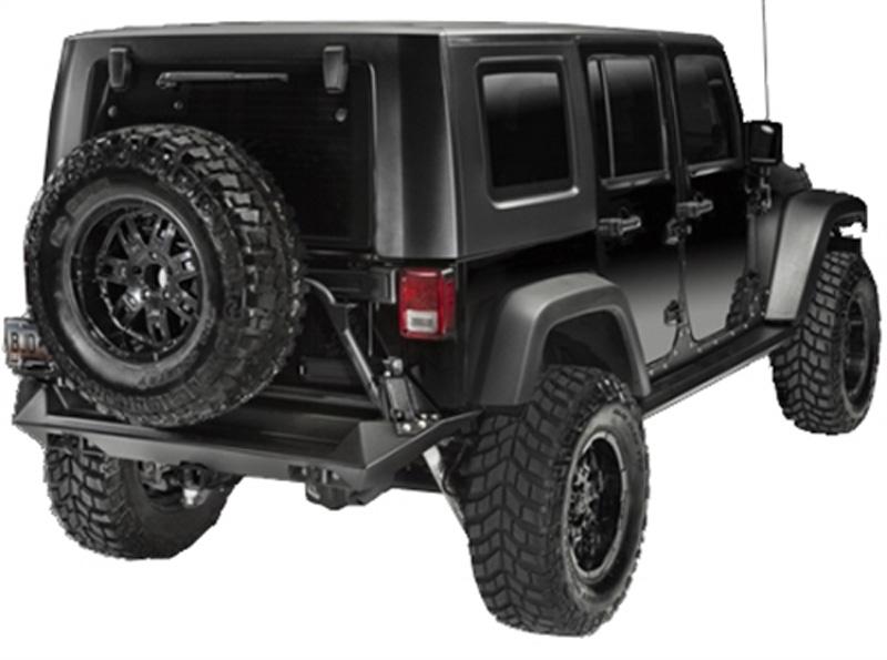 Fab Fours JP-Y1251T-B 97-18 Jeep TJ/LJ/JK Tire Carrier Bare (needs base bumper)