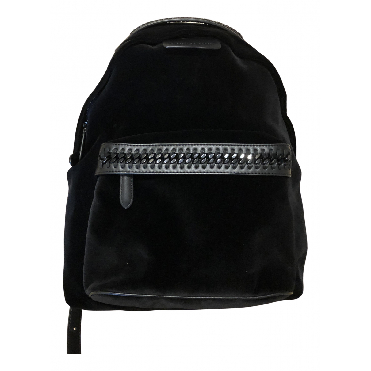 Stella Mccartney Falabella Go Black Velvet backpack for Women N