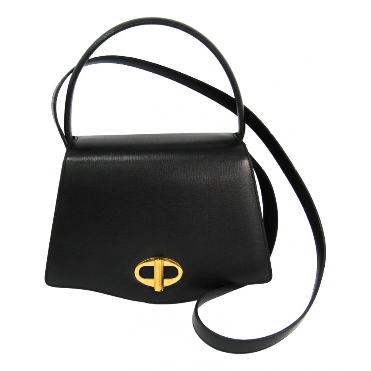 Alfred Dunhill \N Handtasche in  Schwarz Leder