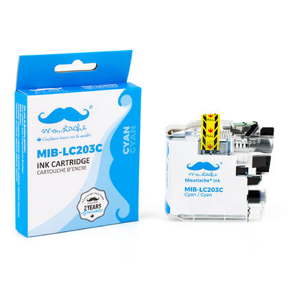Compatible Brother MFC-J5520DW Cyan Ink Cartridge by Moustache, High Yield