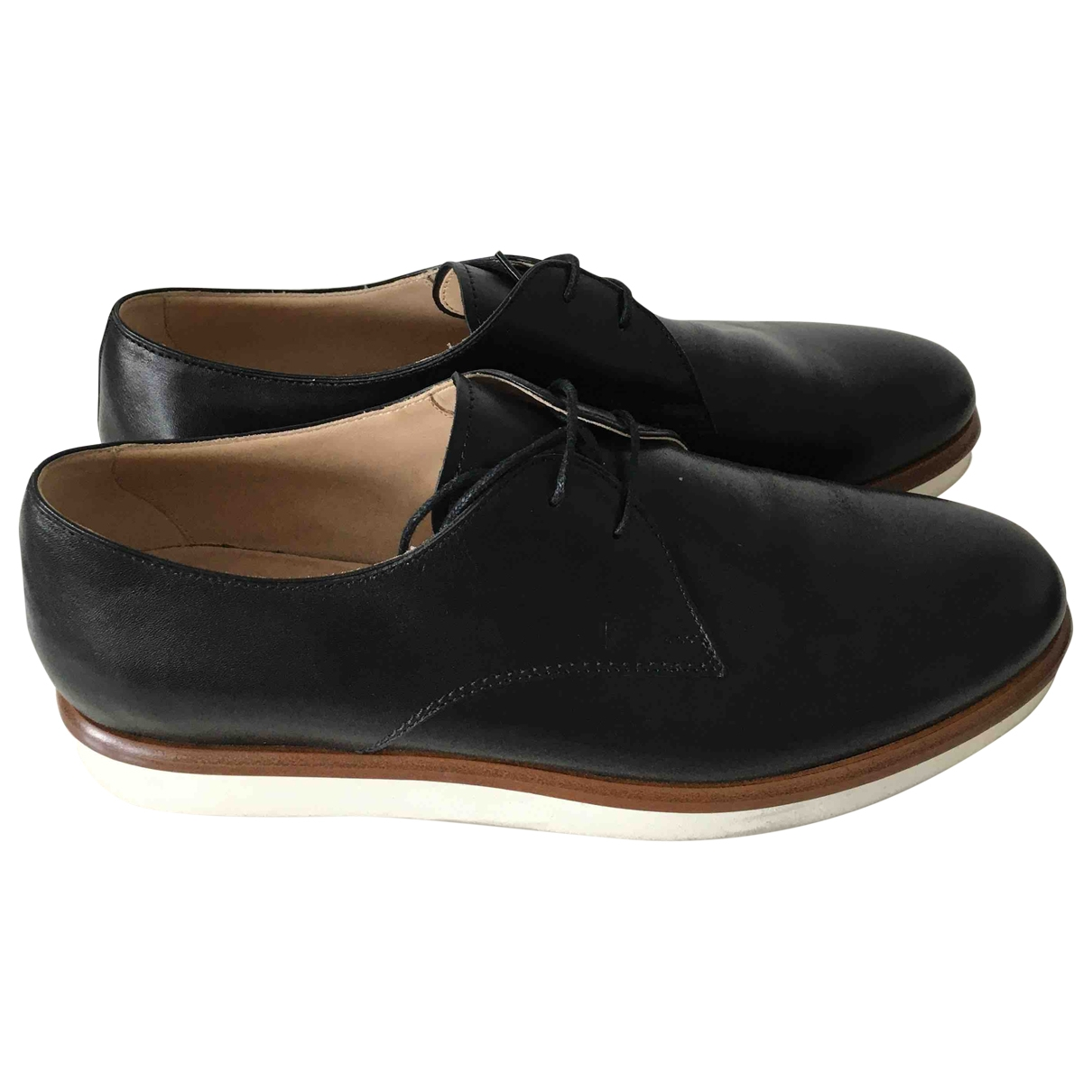 Tod's \N Black Leather Lace ups for Women 39.5 EU