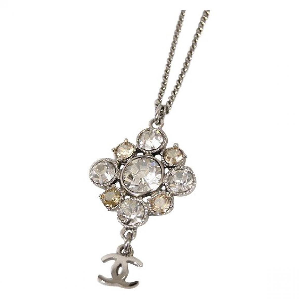 Chanel - Collier CC pour femme en metal - argente