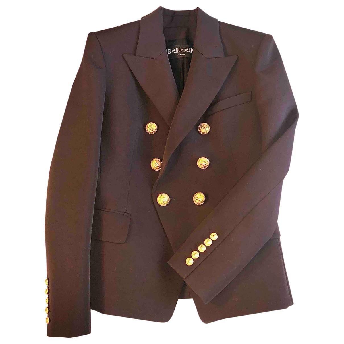 Balmain \N Brown Wool jacket for Women 38 FR
