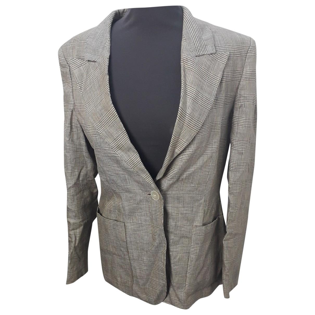 Max Mara - Veste   pour femme en lin - gris