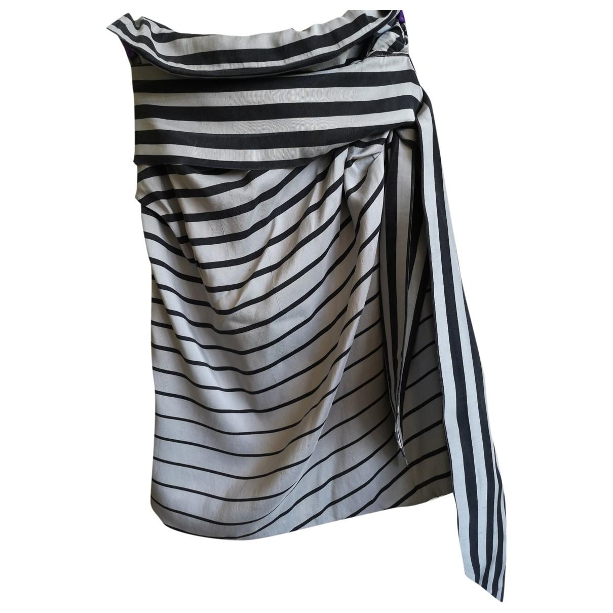 Dries Van Noten - Jupe   pour femme en soie - gris