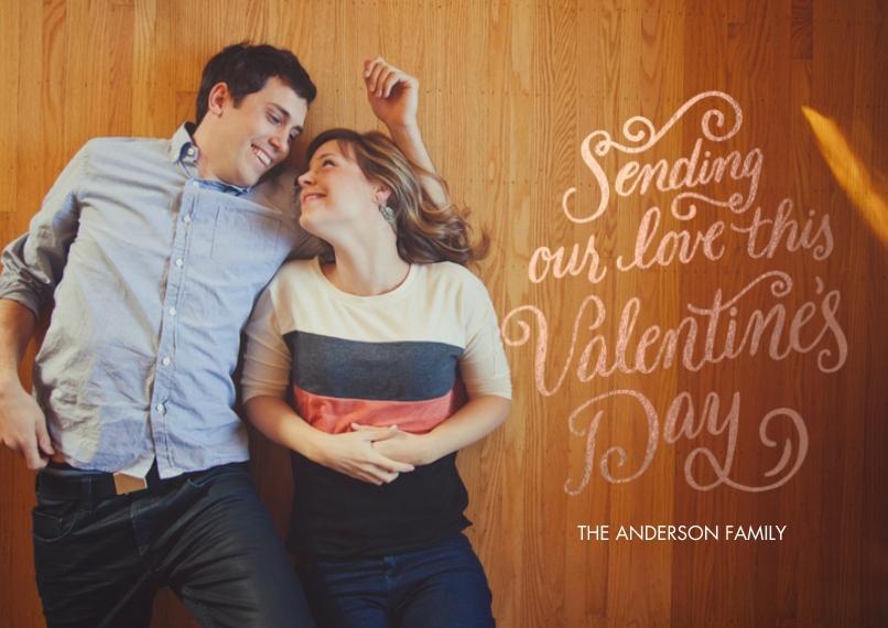 Valentine's Cards 5x7 Cards, Standard Cardstock 85lb, Card & Stationery -Rose Gold Valentine