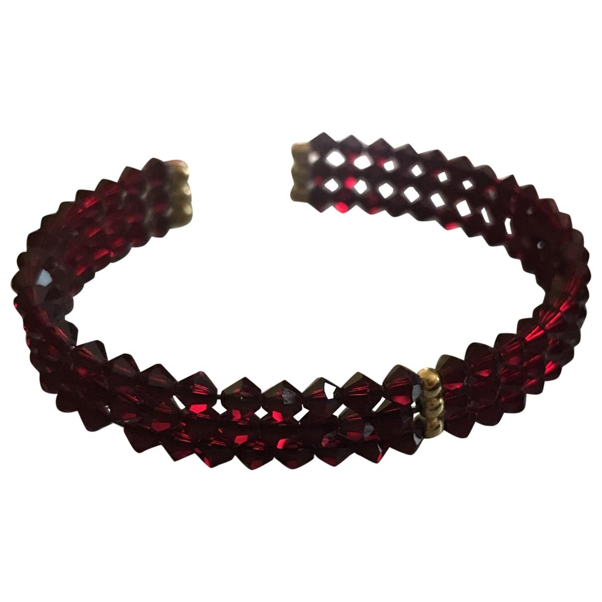 - Bracelet   pour femme en cristal - bordeaux