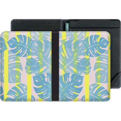 tolino vision 2 eBook Reader Huelle - Linocut Monstera Neon von Bianca Green