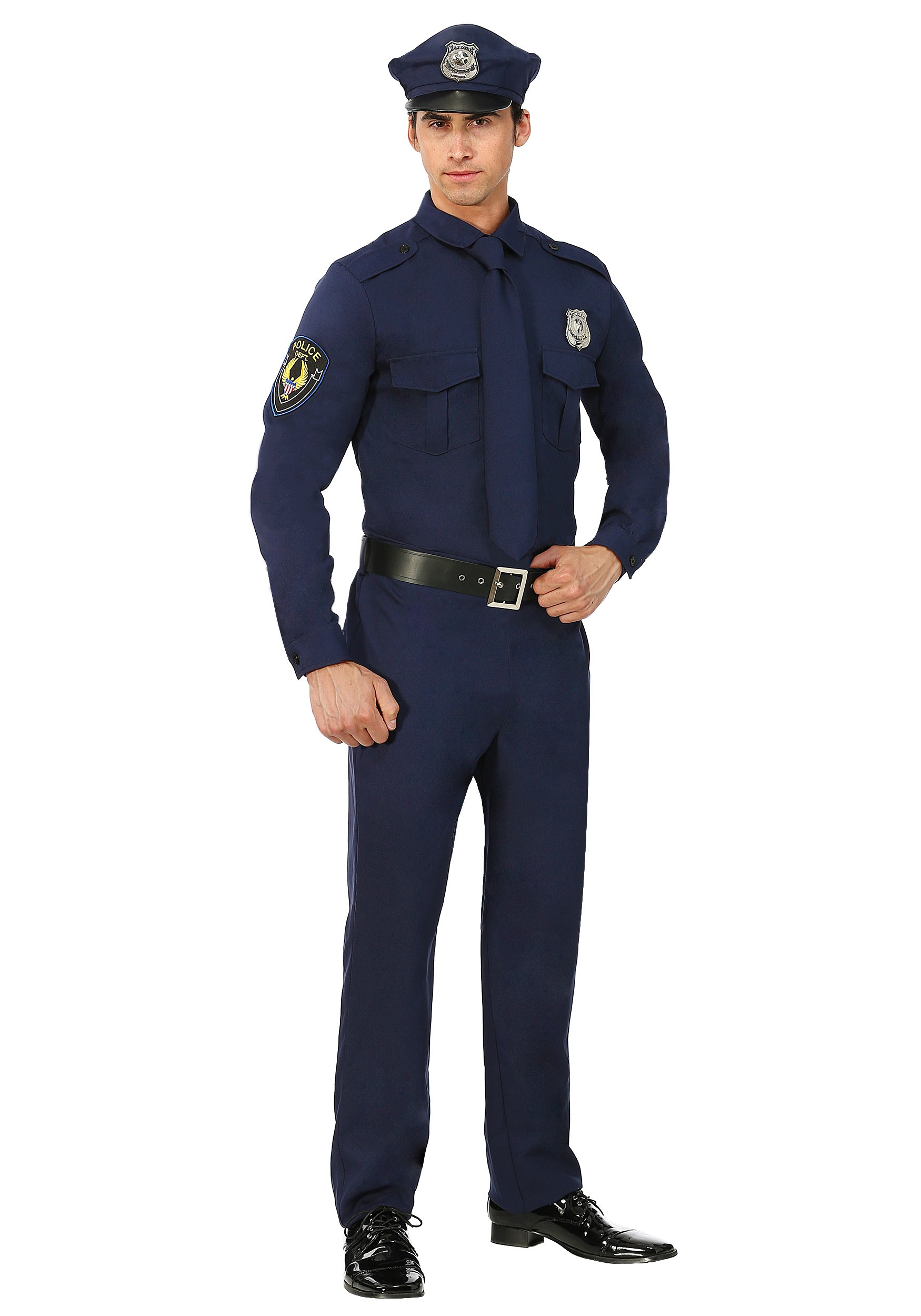 Men's Cop Costume for Plus Size | Police Officer Costume