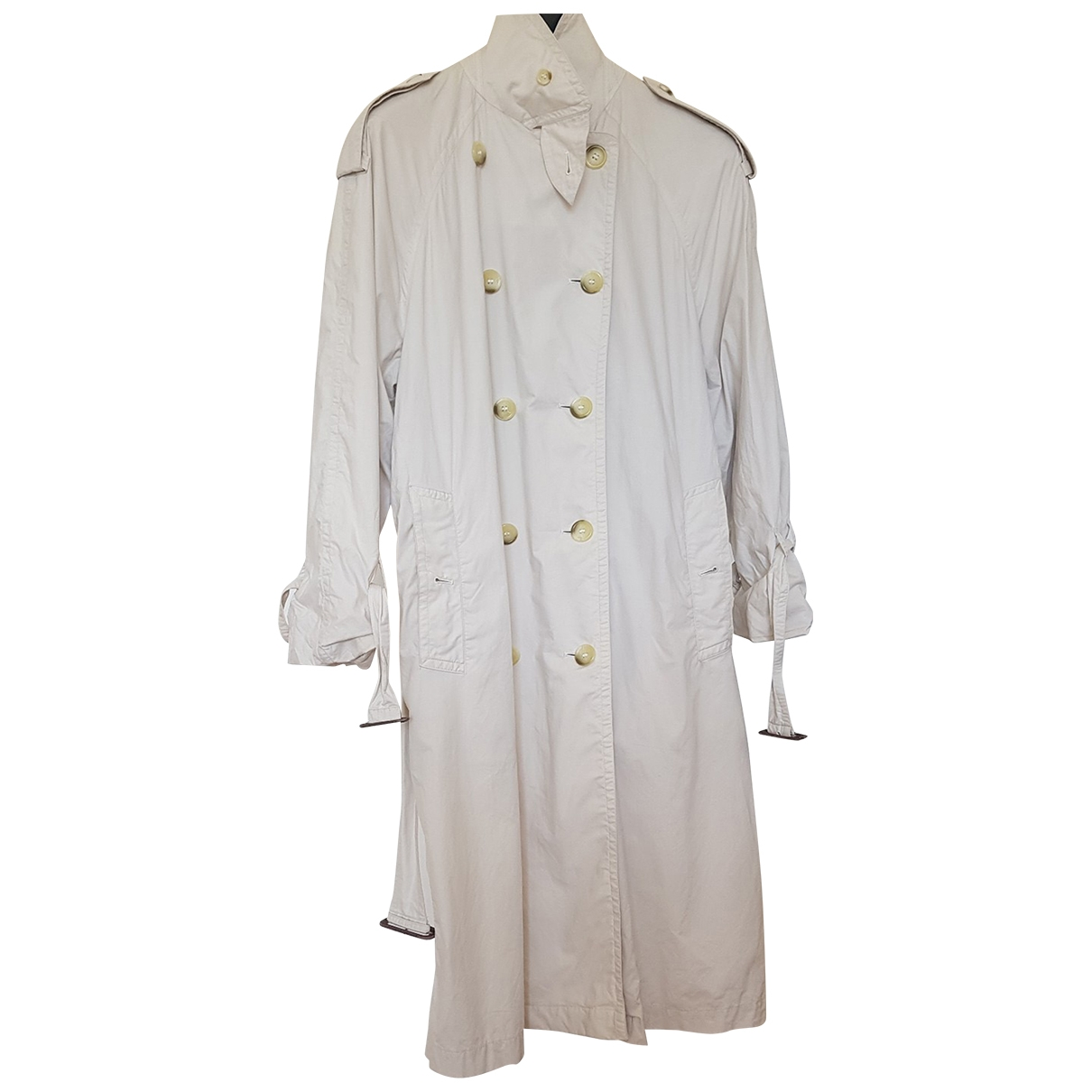 Burberry \N Trench in  Ecru Baumwolle