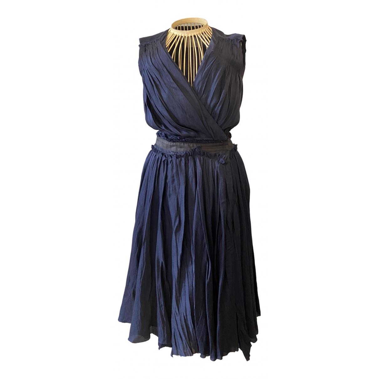 Costume National \N Kleid in  Blau Baumwolle