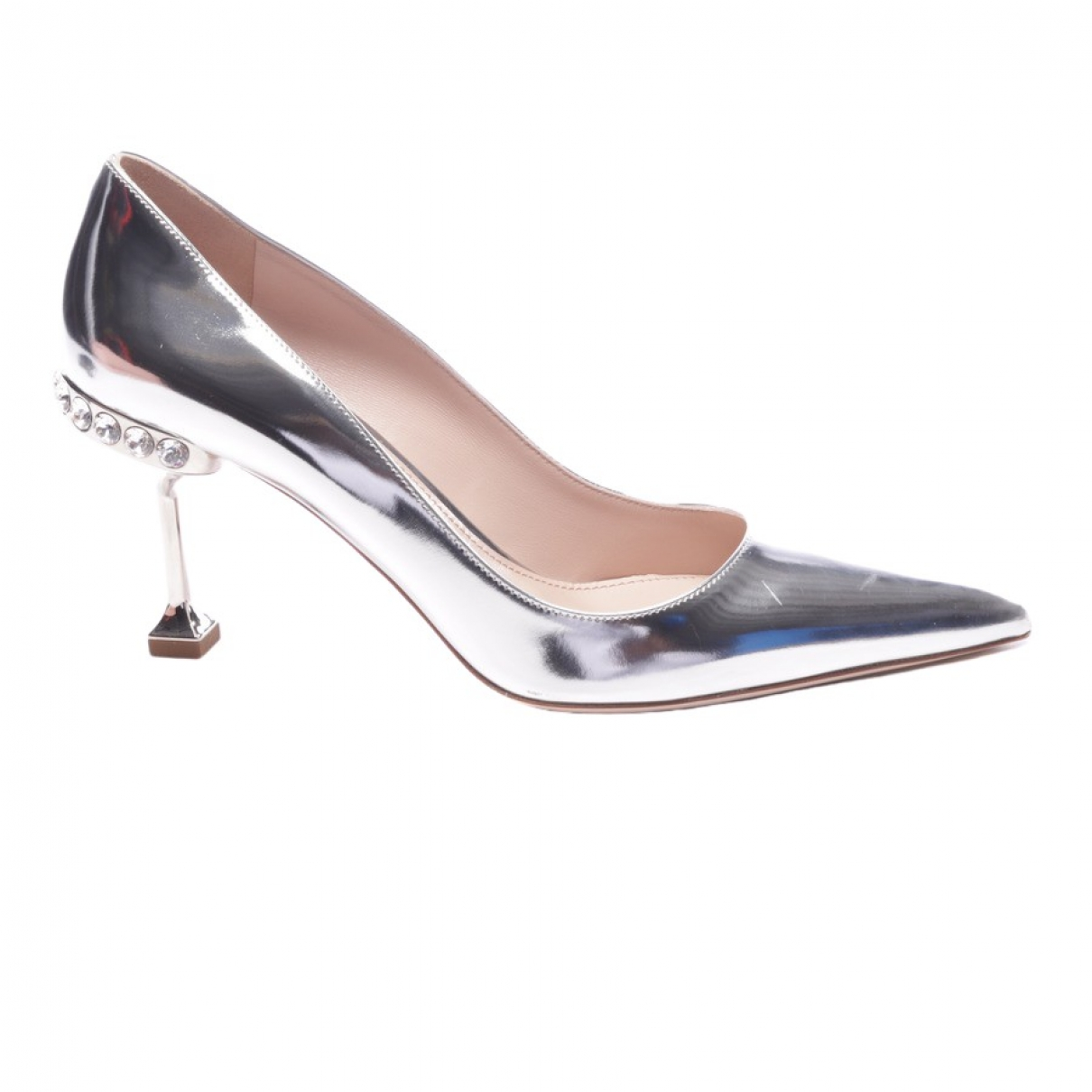 Miu Miu \N Metallic Leather Heels for Women 39.5 EU