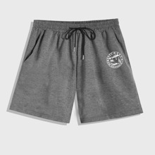 Guys Letter Graphic Shorts