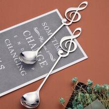 2 piezas cuchara con nota musical
