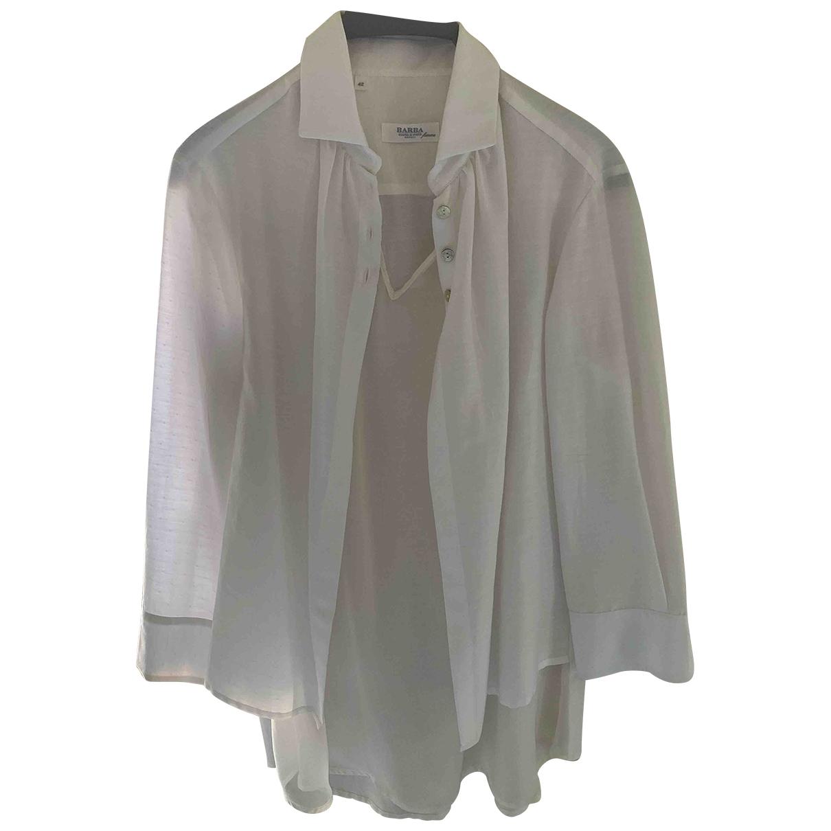 Barba \N White Cotton  top for Women 42 IT