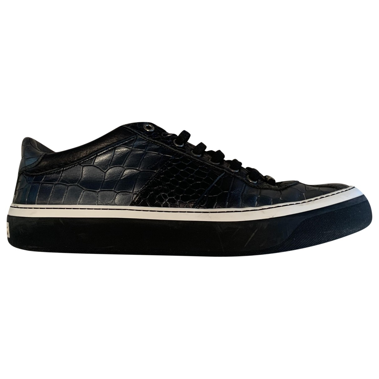 Jimmy Choo \N Sneakers in  Schwarz Leder