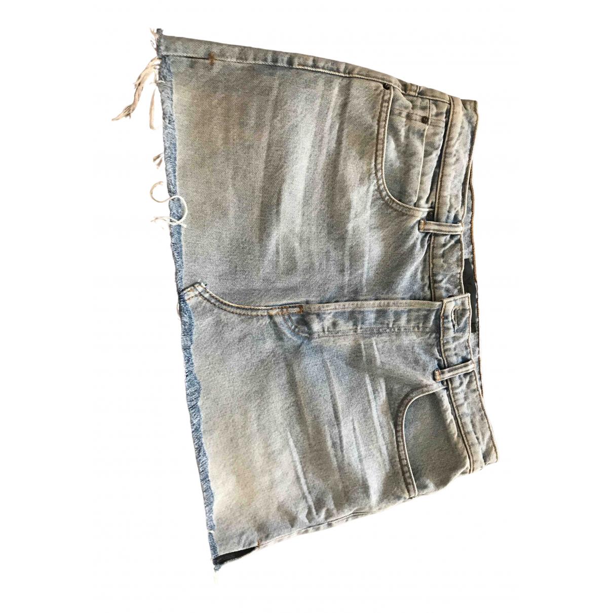 Alexander Wang \N Rocke in  Blau Denim - Jeans