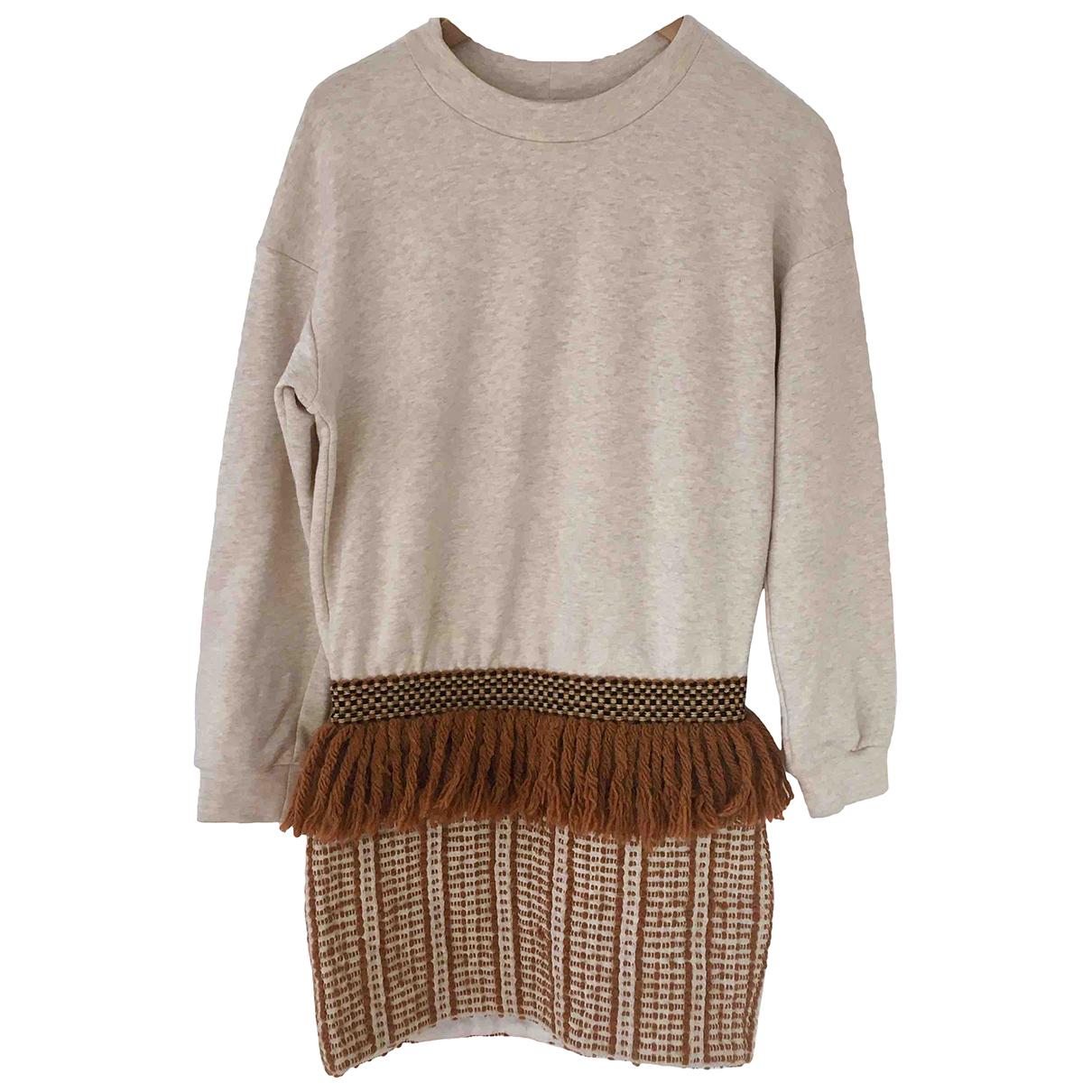 Nanushka \N Kleid in  Beige Baumwolle
