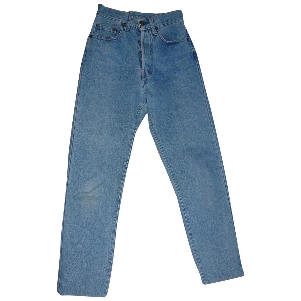 Non Signé / Unsigned \N Blue Cotton Jeans for Women 32 FR