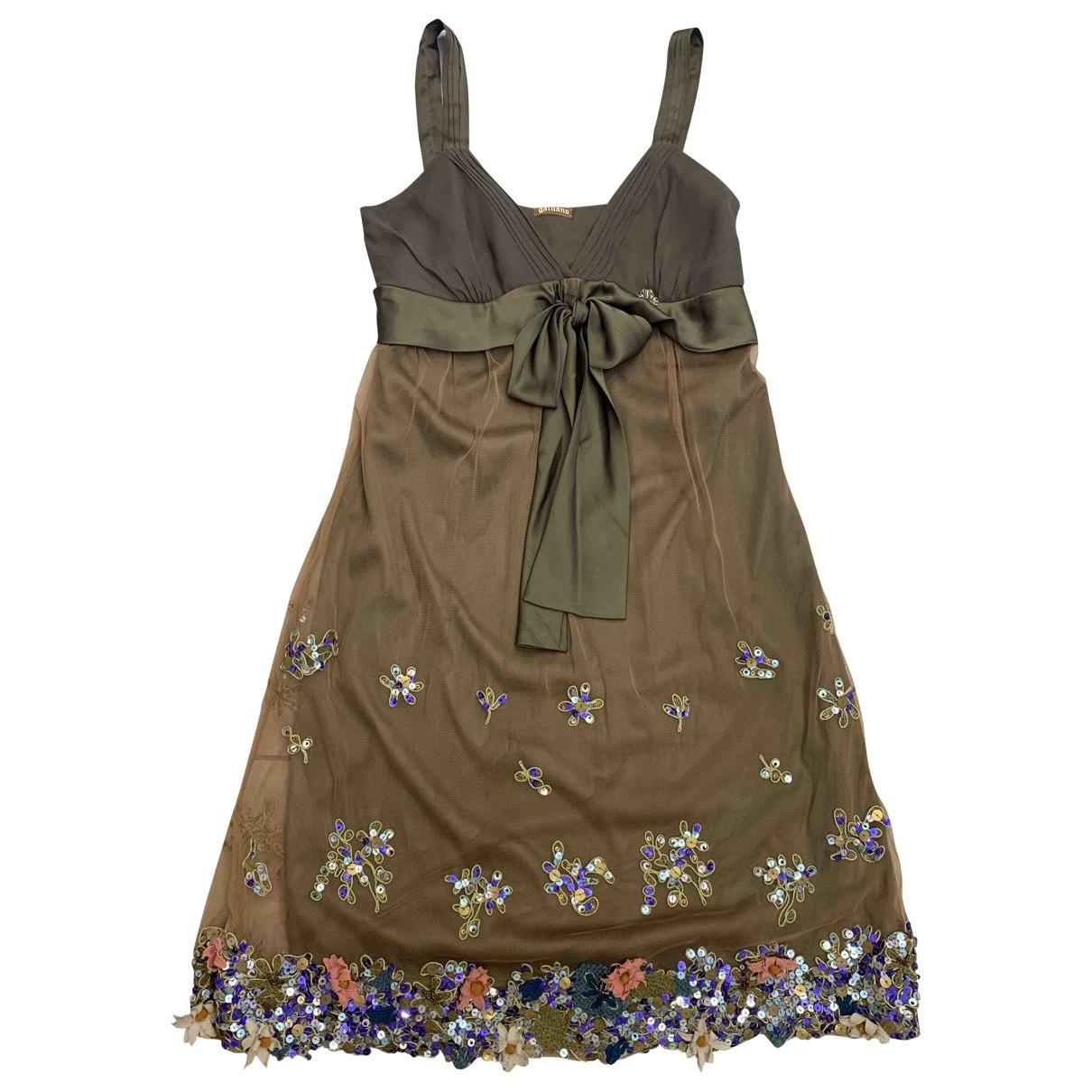 Galliano \N Multicolour Silk dress for Women 44 IT