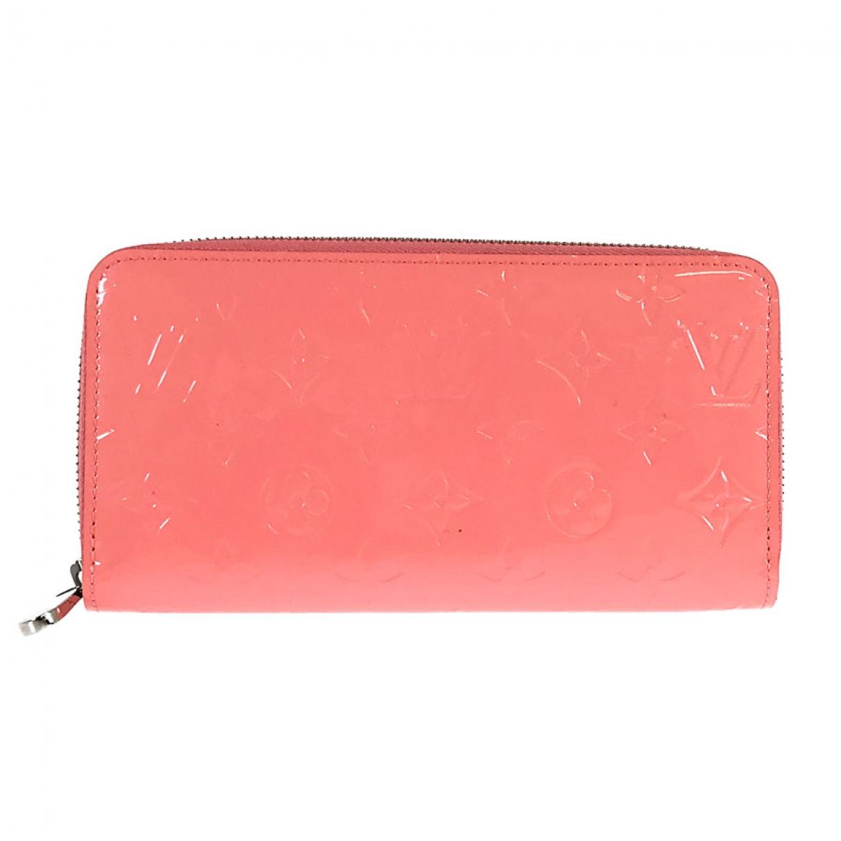 Louis Vuitton Zippy Portemonnaie in  Rosa Lackleder