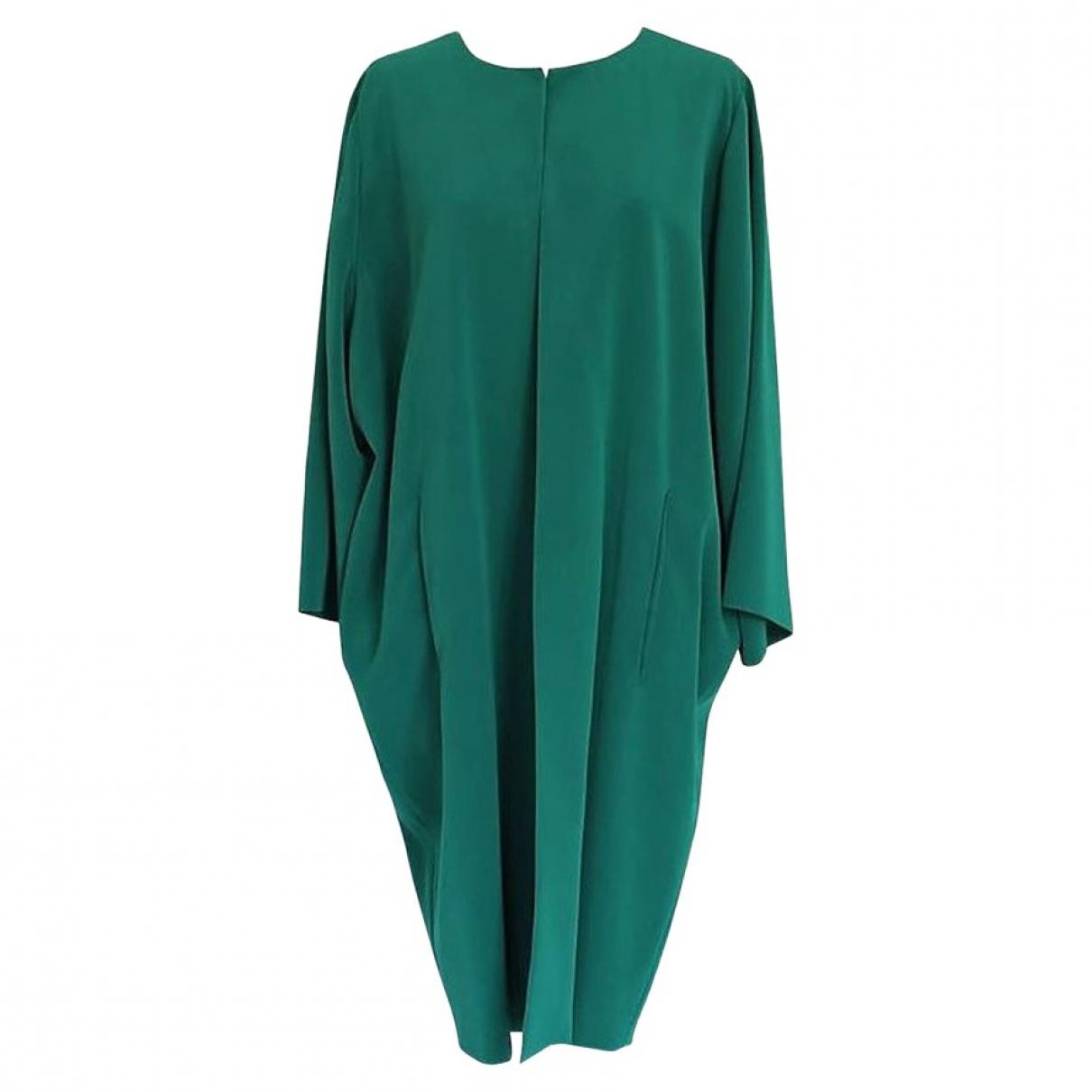 Gianluca Capannolo - Manteau   pour femme en soie - vert