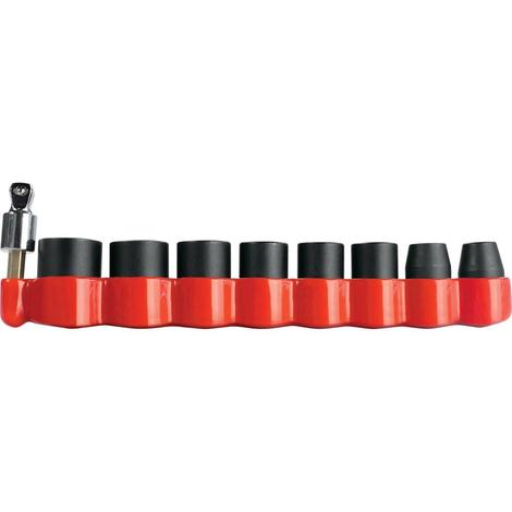 Makita Impact Gold 3/8 in. 6-Point Metric Impact Socket Set with 15° Tilt Socket Adapter ( 9-Piece)